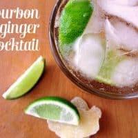 Bourbon + Ginger Cocktail