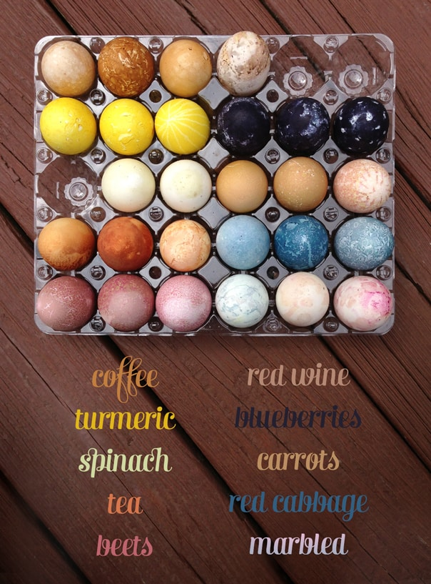 Natural Easter Egg Dyes // Feast + West