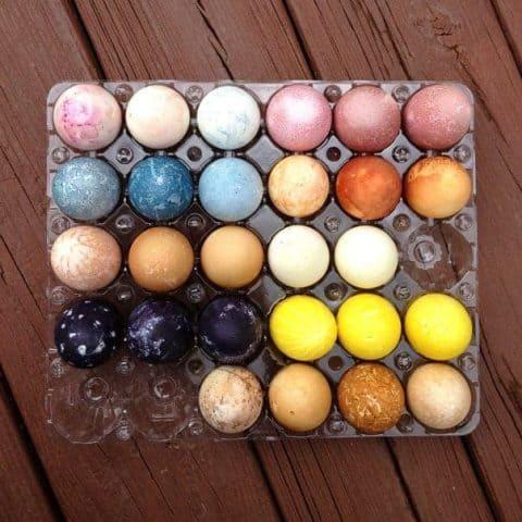 Natural Easter Egg Dyes // Feast + West
