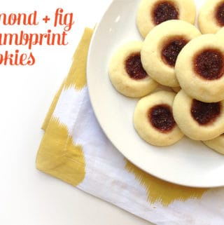 Almond + Fig Thumbprint Cookies