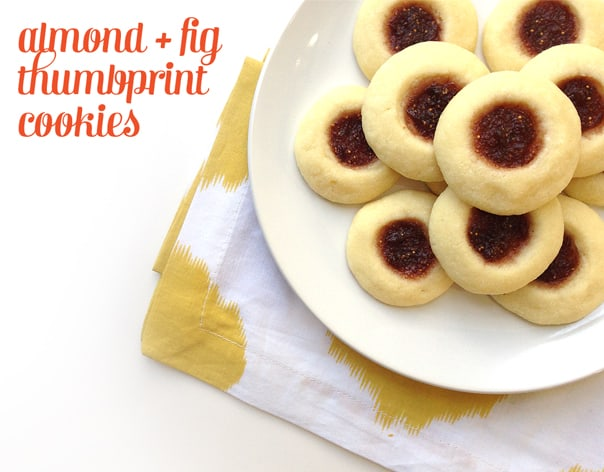 Almond + Fig Thumbprints // Feast + West