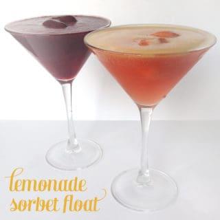 Lemonade Sorbet Float