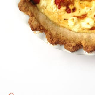 Three-Cheese Quiche with Roasted Bell Peppers