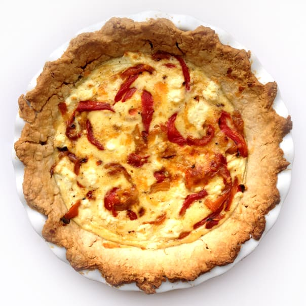 Three-Cheese Quiche with Roasted Bell Peppers // Feast + West