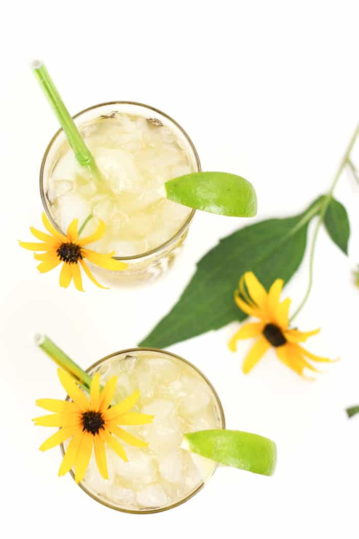 A drink for the Preakness Stakes, the Black-Eyed Susan Cocktail is so named for the Maryland-shaped blanket of yellow flowers that is draped around the winner's neck. Vodka and elderflower liqueur join pineapple, orange and lime juices for a sunny drink worthy of race-watching.(via feastandwest.com)