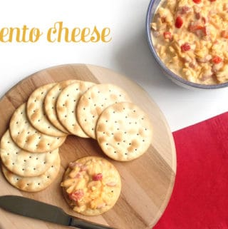 pimento cheese, crackers, southern