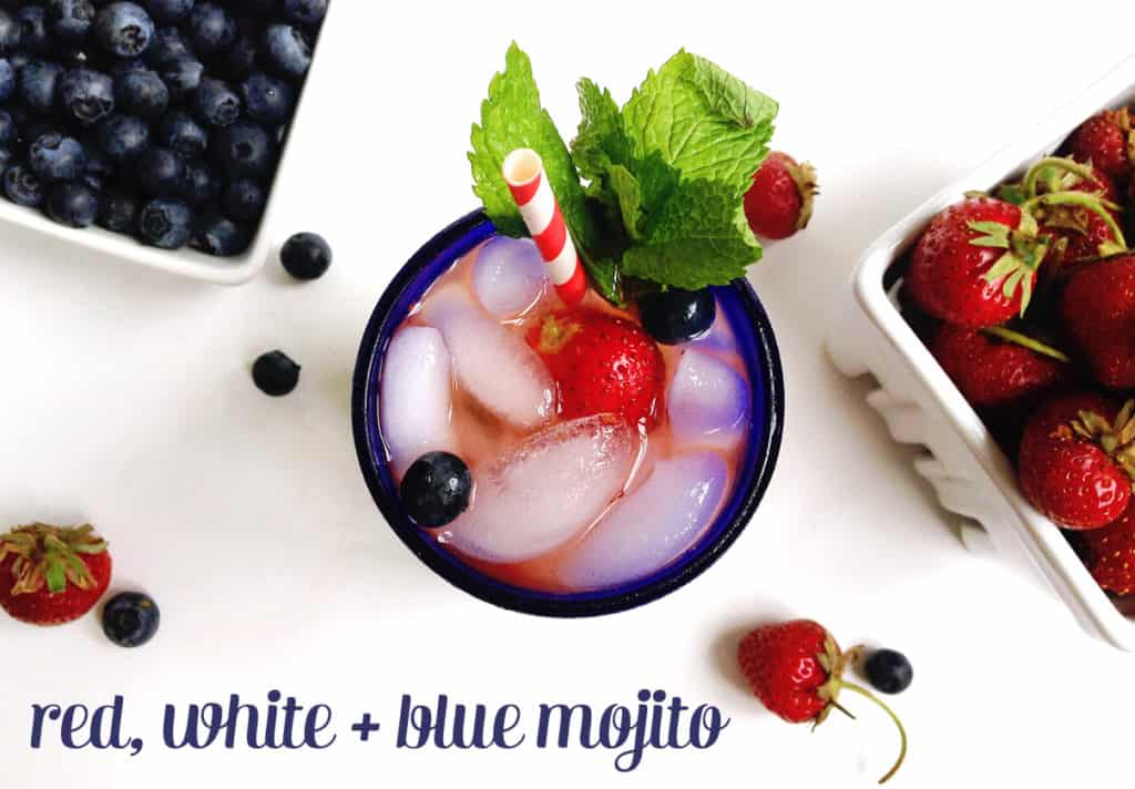 Red, White and Blue Mojito