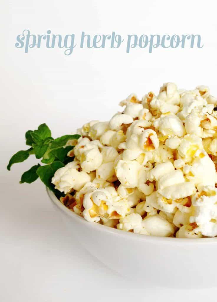 Spring Herb Popcorn // Feast + West