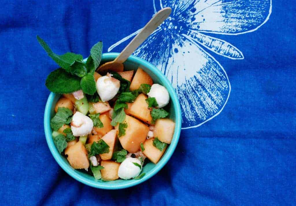 Melon Mint Mozzarella Salad Feast West