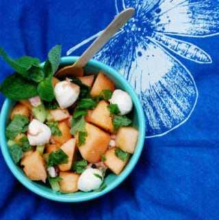 Melon, Mint + Mozzarella Salad