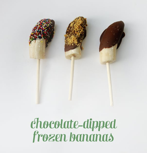 Chocolate-Dipped Frozen Bananas // Feast + West