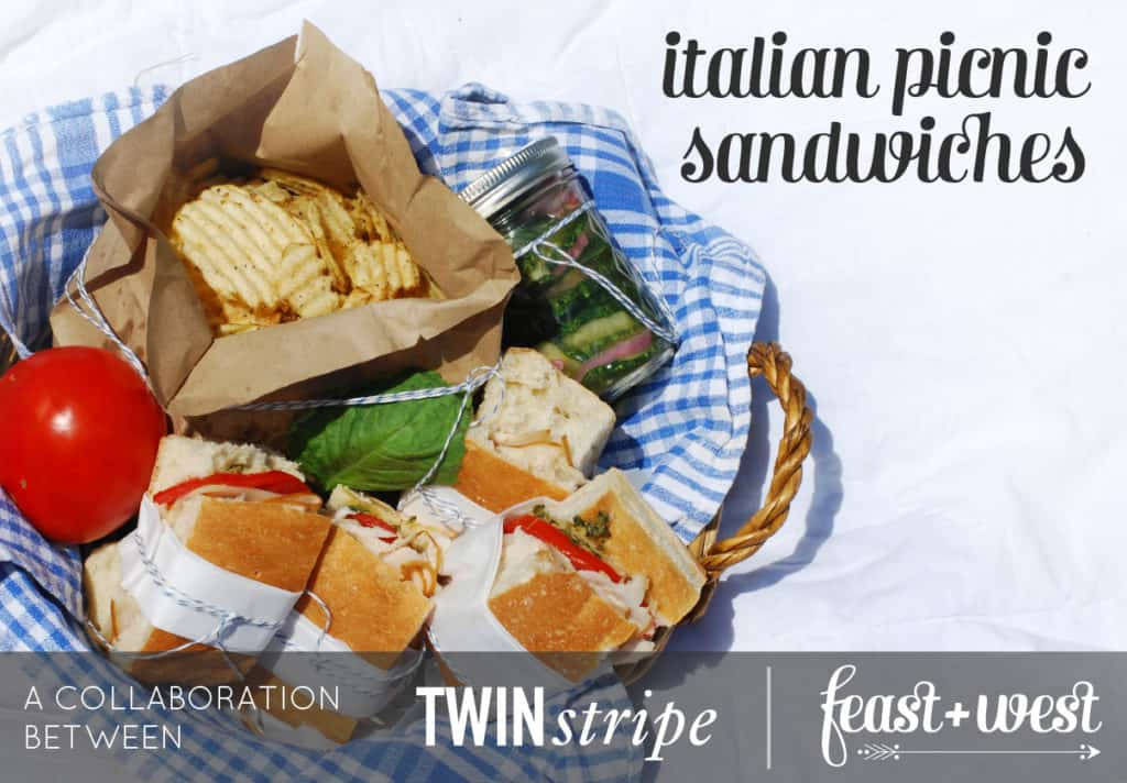 Italian Picnic Sandwiches // Feast + West and Twin Stripe