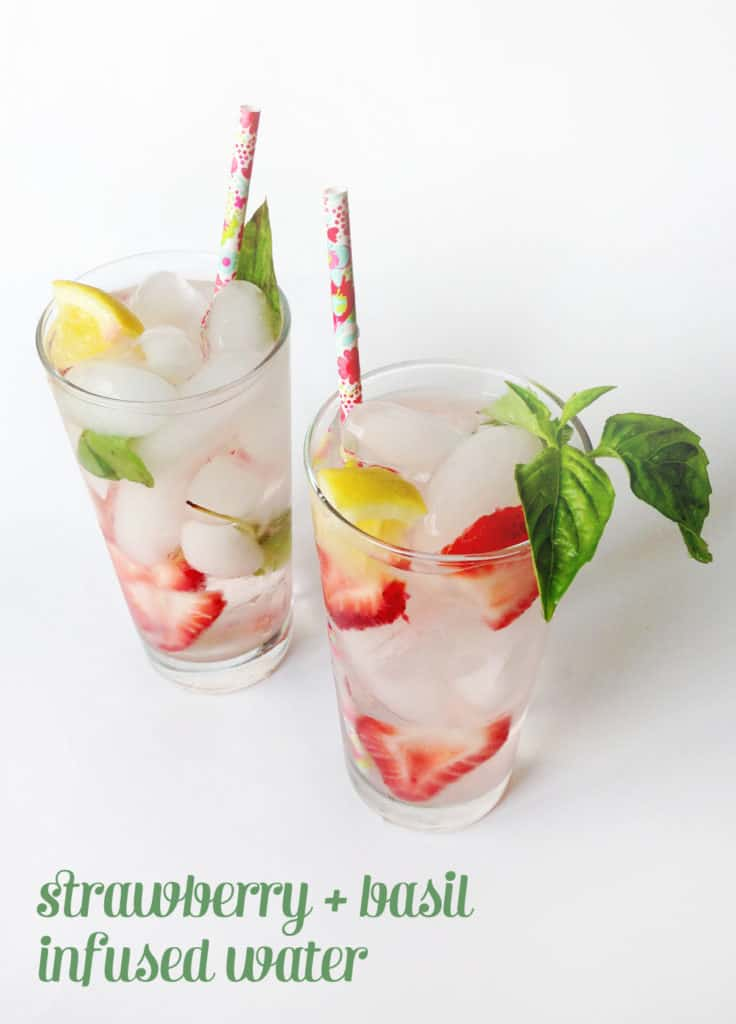 Strawberry-Basil Infused Water // Feast + West