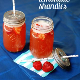 Strawberry Lemonade Shandies