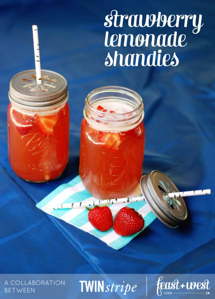 Strawberry Lemonade Shandies // Feast + West