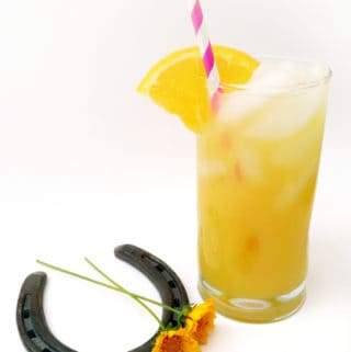 Black-Eyed Susan cocktail for the Preakness horse race. // Feast + West