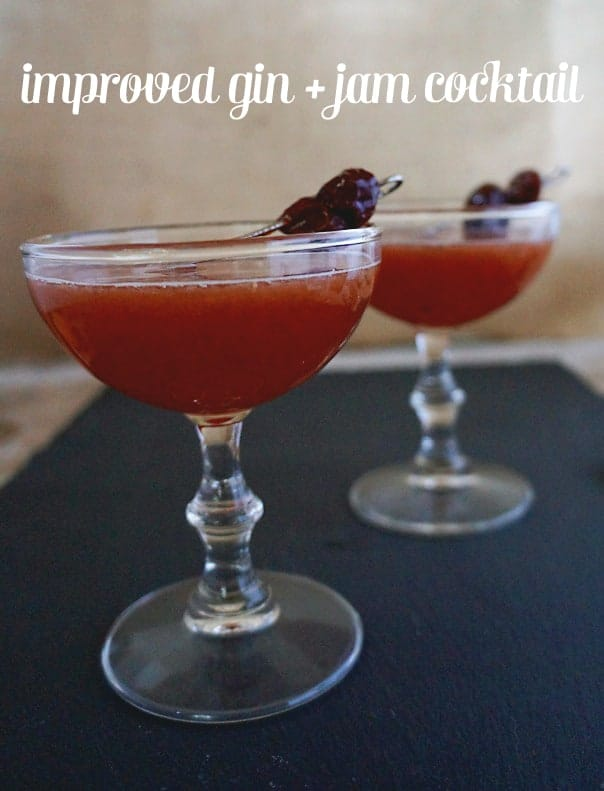 Improved Gin + Jam Cocktail // Feast + West