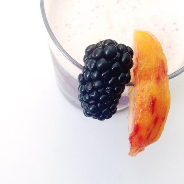 Blackberry Peach Sour // Feast + West