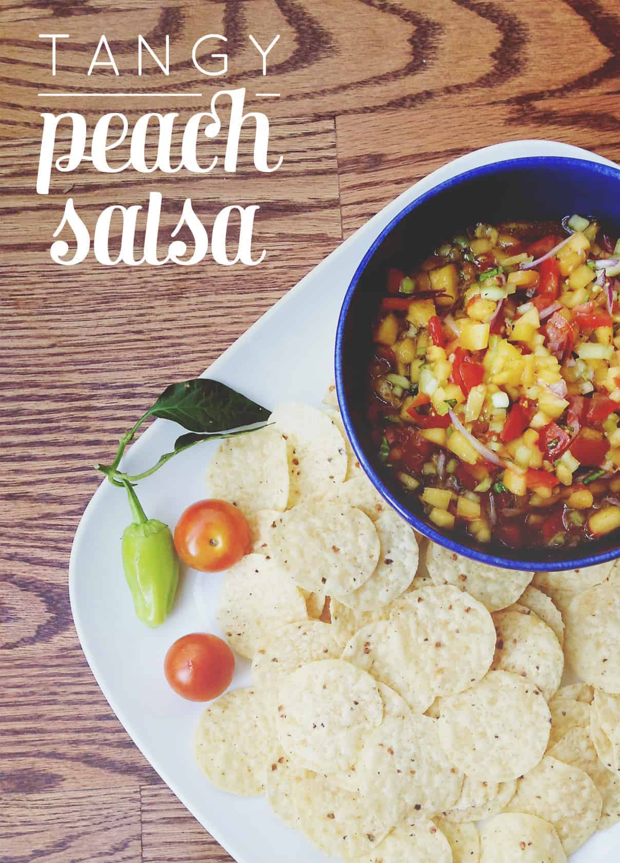 Tangy Peach Salsa // Feast + West