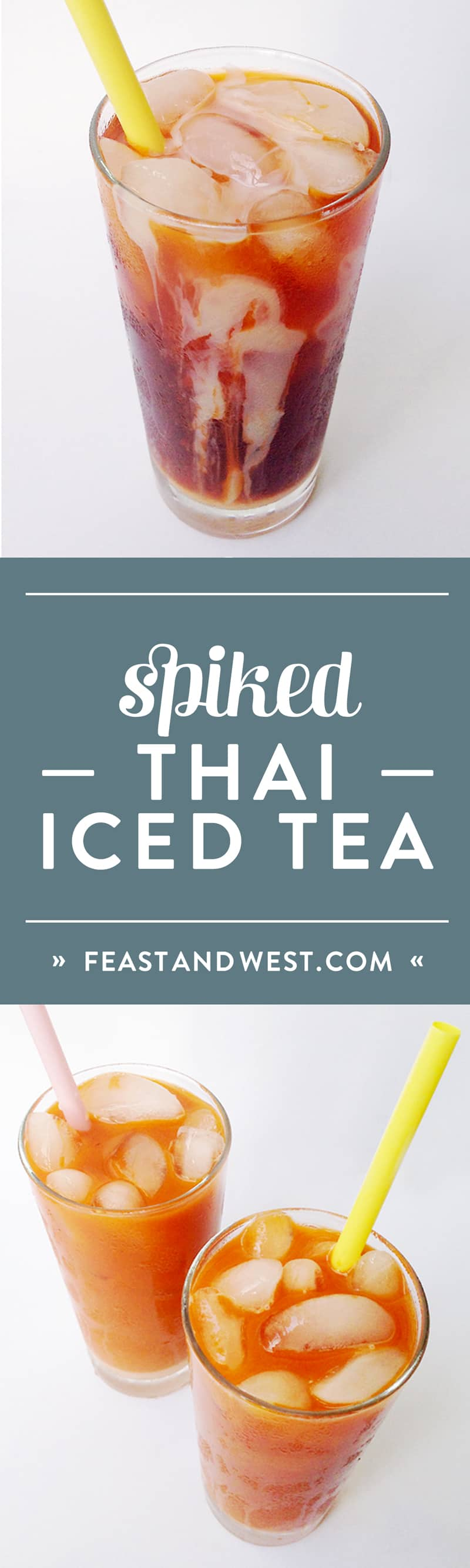 Cool off with an ice-cold Spiked Thai Iced Tea. With a hint of vanilla and a spot of rum or vodka, this sweet, silky beverage is a refreshing indulgence reminiscent of my favorite Thai restaurant treat. (via feastandwest.com)