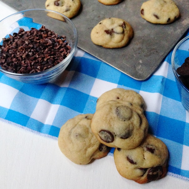 Soft Batch Chocolate Chip Cookies with Cocoa Nibs // Feast + West