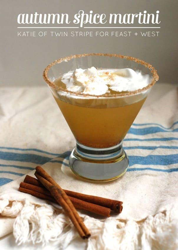 Autumn Spice Martini recipe by Twin Stripe // Feast + West