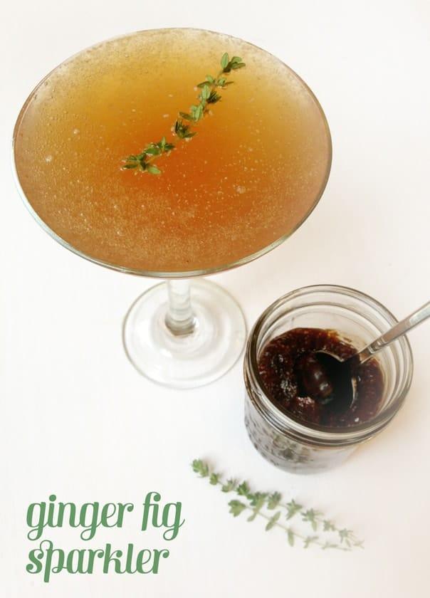 Ginger Fig Sparkler // Feast + West