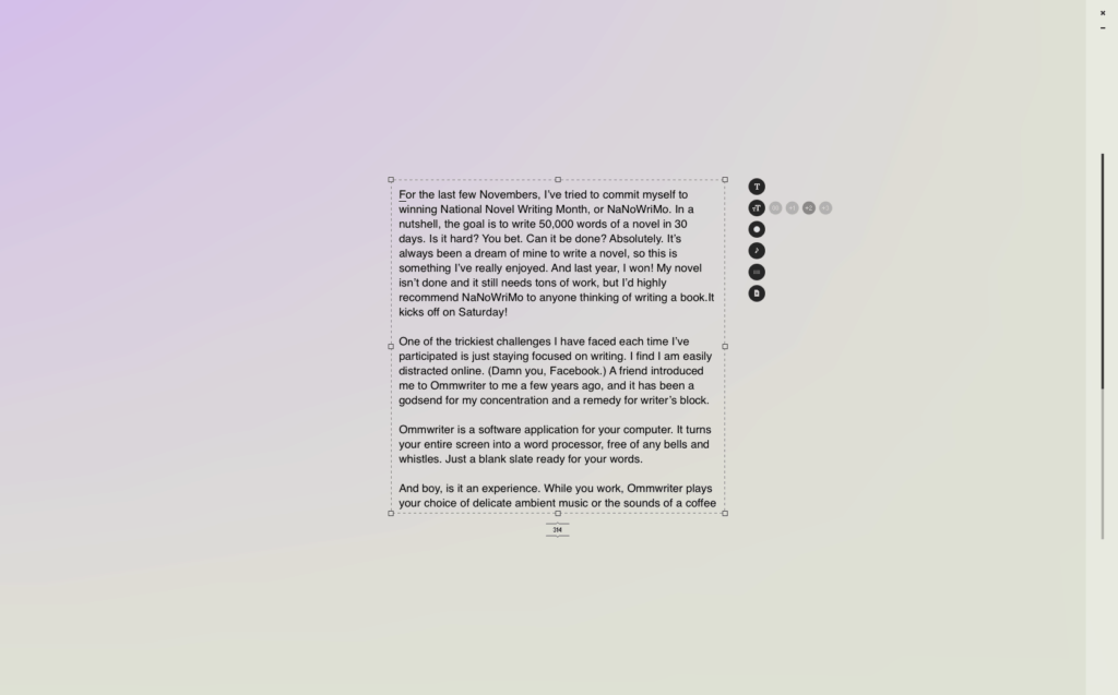 Apps of My Eye: Ommwriter for writing // Feast + West