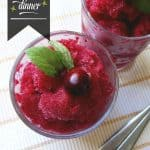 Cranberry Bourbon Granita