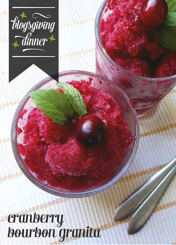 Cranberry Bourbon Granita // Feast + West