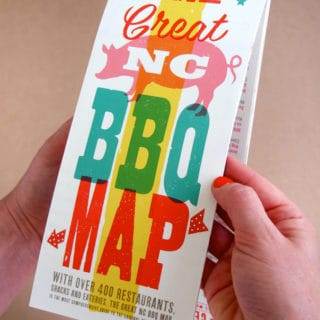 {Giveaway} The Great NC BBQ Map