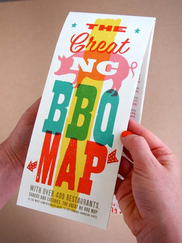 NC BBQ Map Giveaway // Feast + West
