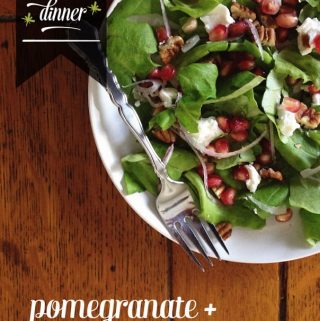 Pomegranate + Goat Cheese Salad