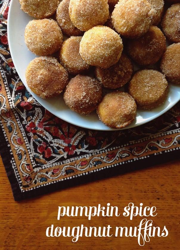 Pumpkin Spice Doughnut Muffins // Feast + West
