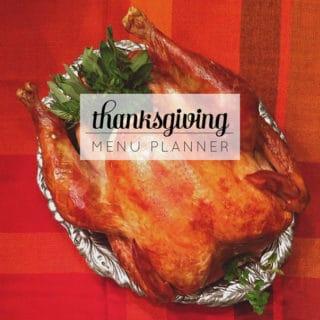 {Free Download} Thanksgiving Menu Planner