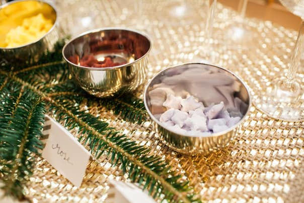 Champagne Cocktail Bar with flavored sugar cubes // Feast + West