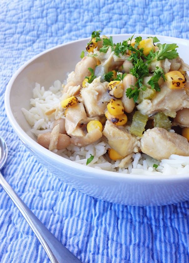 Click below to see the recipe for White Bean + Chicken Winter Stew!