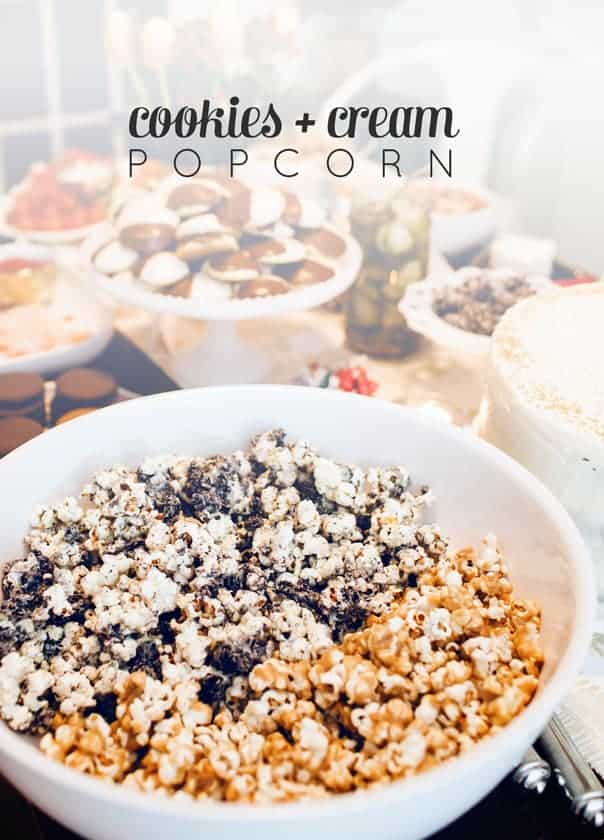 Cookies + Cream Popcorn // Feast + West