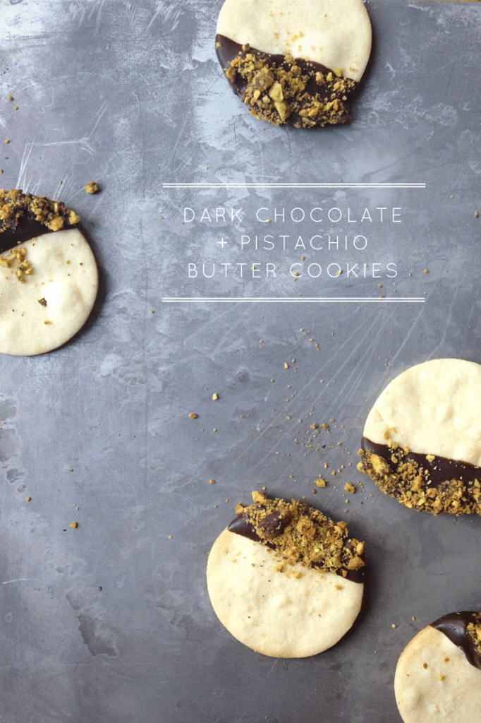 Dark Chocolate Pistachio Butter Cookies // Feast + West