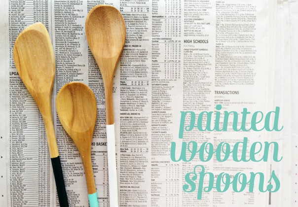 DIY Painted Wooden Spoons // Feast + West