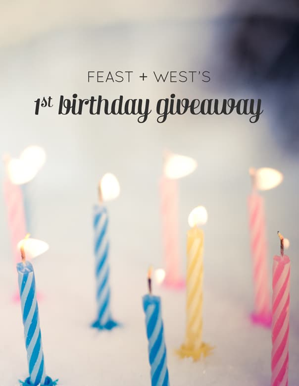 Feast + West's first birthday giveaway // Feast + West