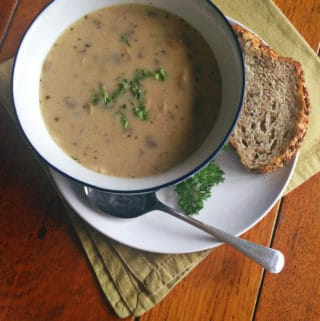 Creamy Mushroom + Herb Soup