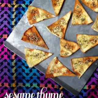 Sesame Thyme Pita Chips