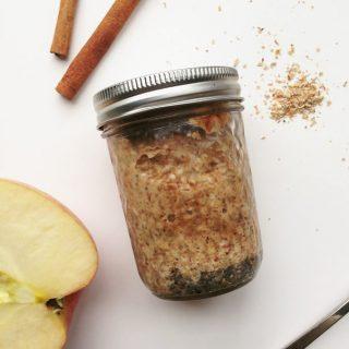 Almond Apple Cinnamon Overnight Porridge