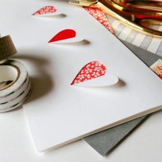 Cut-Paper Valentines