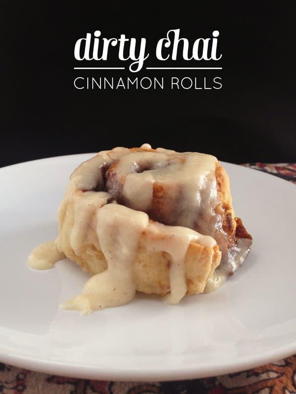 Dirty Chai Cinnamon Rolls // Feast + West