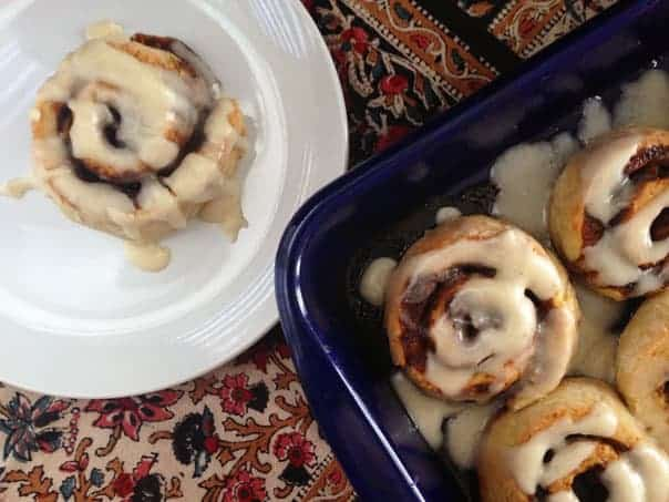 Dirty Chai Cinnamon Rolls // Feast + West