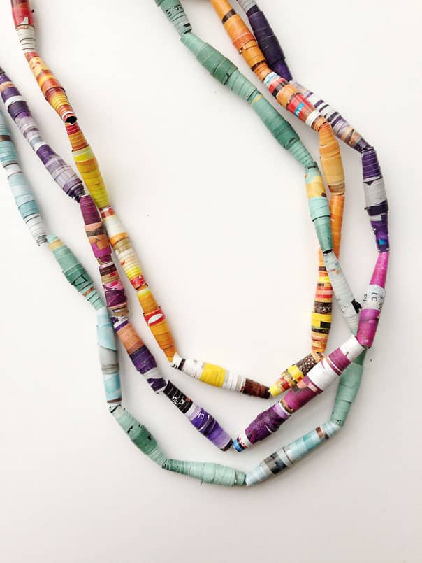 DIY Paper Mardi Gras Beads // Feast + West
