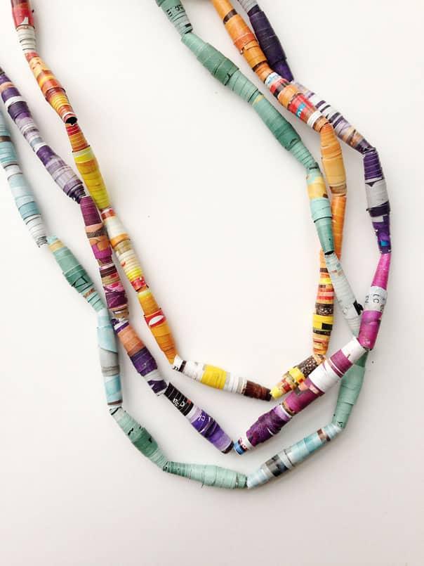DIY Paper Mardi Gras Beads // Feast + West