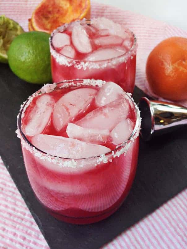 Sweet Blood Orange Margaritas // Feast + West